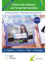 flyer portail familles