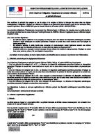 Note information Arr Equip hivernal